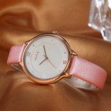 Reloj del OEM Odmladies de la correa de cuero de la mujer del regalo (Wy-052A)