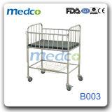 Greppia di plastica del bambino del metallo dell'oscillazione del metallo dell'ospedale con Ce&ISO