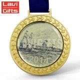 리본을%s 가진 도매 주문 금속 3D 50 결혼 기념일 기념품 포상 큰 메달 메달