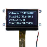 12864 FSTN stippelt het Grafische Witte Scherm van de Module van de Vertoning van Backlight LCD van de Kleur