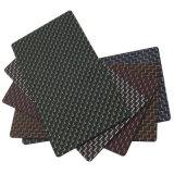 Feuille lustrée de fibre de carbone de sergé