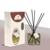 ガラス150mlラベンダー木製オイルの拡散器はホーム芳香剤を葦でふく
