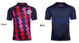 新しいラグビーのワイシャツデザインはカスタマイズした高品質のラグビーのワイシャツ(R006)を