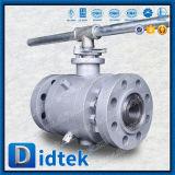 Didtek ISO9001 schmiedete Drehzapfen-Kugelventil mit Schlüssel