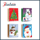 Sac de papier estampé par logo fait sur commande de Noël bon marché d'OEM de bonne qualité
