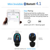 U8 Écouteur mono Voix anglaise Business Casque Casque Bluetooth sans fil Mini-écouteurs avec microphone invisible des appels pour les téléphones