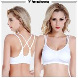 2016 Hot Selling New Design Lady's Cotton Fashion Solid Push Up Bra Sports Bra