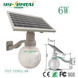6W impermeável ao ar livre do Sensor de movimento IP65 LED Solar Luz Jardim de Rua