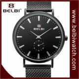Orologio impermeabile ultrasottile semplice degli uomini del quarzo dell'acciaio inossidabile di Belbi
