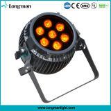 Piscine 7X14W Rgbawuv Parcans Lampe LED de zoom de la batterie