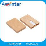 Rectángulos de madera grabados espacio en blanco de la tarjeta de visita del regalo del asunto