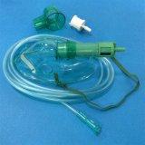 Het medische Zuurstofmasker van de multi-Opening van Verbruiksgoederen Beschikbare Eenvoudige Groen/Transparant in Verschillende Grootte