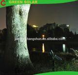 luz solar integrada del punto 18LED con el punto de la tierra del pilar de Roma