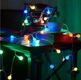 크리스마스 훈장 작은 라운드 볼 램프 끈 빛