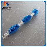 Frasco de azul e branco da escova de limpeza