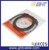 Plaqué or 720p/1080P/2160p Câble HDMI avec anneau unique Core