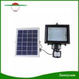 6V 5W PIR 센서를 가진 태양 전지판 4000 mAh 80 LED 태양 플러드 빛