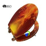 Asiento de tocador de madera universal de la impresión del MDF de la tapa accesoria del tocador del cuarto de baño
