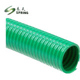 Hélice helicoidal flexibles de PVC de descarga hidráulica de agua del tubo flexible de aspiración manguera aspiradora industrial