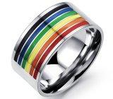 De perfecte Vrolijke Trouwringen van de Trots voor Verlovingsringen 10mm van het Roestvrij staal van de Juwelen van Vrouwen en van Mannen