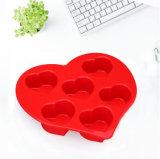 Forme de coeur de silicone Muffi moule à gâteau