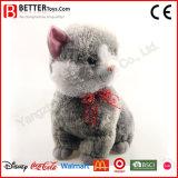 Jouet mou de chat gris bourré par animal de peluche de cadeau de promotion pour des gosses de bébé