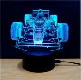 자동적인 LED 밤 빛 3D 환영 테이블 램프