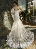 Mermaid шнурка выравнивая Bridal платье венчания
