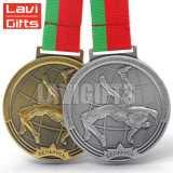 Cheap Wholesale Custom 3D Metal chapado antiguo deporte medallas dispara