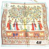 signora Fashion Square Scarf della seta di 90*90cm 100% con pittura a olio stampata