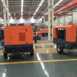 Compressore d'aria rotativo portatile guidato diesel della vite per l'impianto di perforazione di trivello del vagone