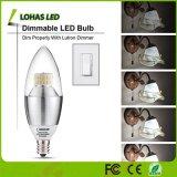 E12 E14 3W E27 5W 6W 7W 9W Blanco cálido frío SMD LED regulable Bombilla de luz de velas
