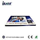 Tarjeta del folleto de /Video de la tarjeta video del LCD de 4.3 pulgadas para el regalo promocional del asunto