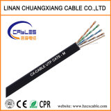 Cable LAN de red UTP Cat5e el exterior con Messenger