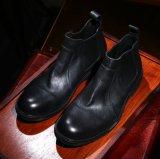 Cuir de veau hommes robe de la cheville de conception personnalisée de cow-boy des hommes d'amorçage