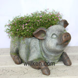 L'animale cinese poco costoso del granito del giardino Sculpt il Flowerpot