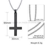 Collier de crucifix de croix d'acier inoxydable de mode d'OEM