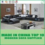 Modernes Möbel-Leder-Ecken-Sofa-Lagerschwelle-Sofa