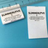Низкая цена пользовательских печатных одежду наклейки