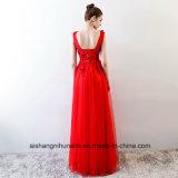 Сексуальная V-Шея линия платье венчания эластичной сатинировки прозрачное