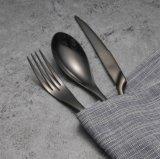Schwarzes Tischbesteck stellte 4 Stücke Edelstahl-Hotel-Nahrungsmitteltafelgeschirr-Besteck-Steak-ein