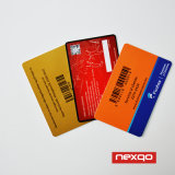 Cr80 carte en plastique de PVC de l'IDENTIFICATION RF estampée par coutume Business/VIP/Membership/Gift