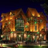 Decoração de Natal Xmas exterior à prova de Red&estrela verde a luz do laser