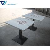 レストランの広東省の家具の大理石の上のダイニングテーブルセット