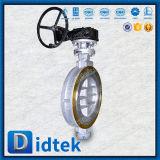 Клапан-бабочка вафли утечки фланца нул Didtek втройне ексцентрическая