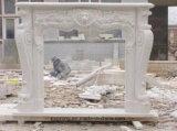 중대한 새기기를 가진 백색 대리석 돌 또는 석회석 또는 석회화 벽난로 벽로선반 또는 벽난로