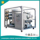 La línea de alta tensión en el tratamiento de aceite del transformador de vacío máquina