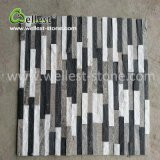 Современные Краткое Стиль Black & White Quartzite культуры камня скалистых камня по стенам