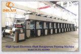 Presse typographique automatique à grande vitesse de rotogravure de Shaftless (DLFX-101300D)