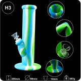 Waterpijp van het Silicone van de pijpen van het Kruid van het Onkruid van het concentraat de Rokende met de Kom van het Glas